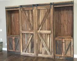 Rustic Entertainment Center Reclaimed Pine Barn Siding Sliding  DoorsTrack FREE SHIPPING To Eastern Time Zone Except New York City Rustic Entertainment Center95