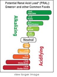 Pral Alkaline Chart Key To Alkalinity Pral Chart