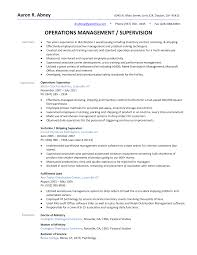 Logistics Supervisor Resume Samples Resume Online Builder