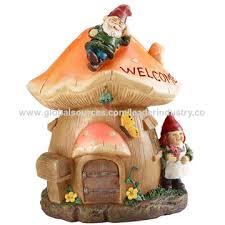 solar garden gnome figurine
