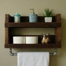 ... wood towel bars for bathrooms photos of bathroom shelf with towel bar  ...