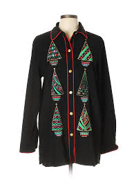 Details About Bob Mackie Women Black Jacket Med