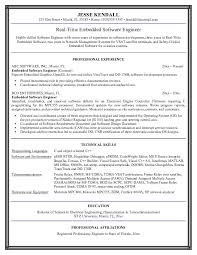 Example Embedded Software Engineer Resume Sample