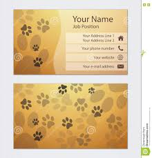Pet Sitter Business Cards Business Card Template Stock Illustration Illustration Of Frame