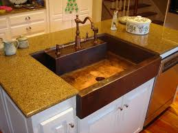 farmhouse copper kitchen sink