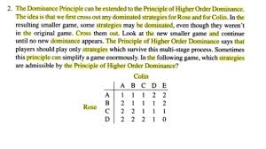 principle of dominance solved 2 the dominance principle can be extended to the