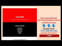 Food Handlers Test Answers Ca Food Handlers Card Test Answers Youtube