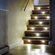 interior stair lighting. stair lights indoor led recessed light kit assembled in the usa dekor interior lighting s