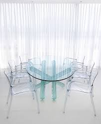 acrylic dining room chairs. Monochromatic Dining Room Contemporary With White Glass Table Acrylic Chairs A