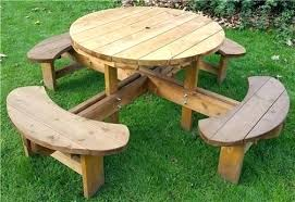 round wood picnic table wooden round picnic table picnic benches and picnic tables within round wooden round wood picnic table