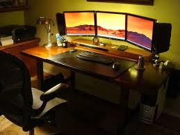 impressive office desk setup. 5 impressive workstations with led lighting office desk setup