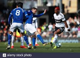 Soccer Football - Premier League - Fulham v Everton - Craven Cottage,  London, Britain - April 13, 2019 Fulham's Ryan Babel in action with  Everton's Gylfi Sigurdsson REUTERS/Ian Walton EDITORIAL USE ONLY.