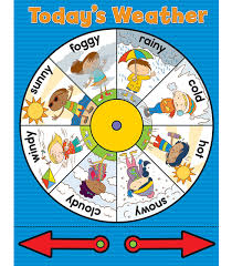 Weather Chart Printable Weather Wheel Chart Grade Pk 3