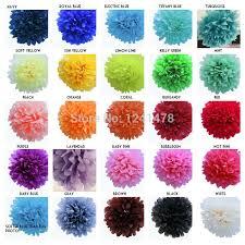 24 Colors As Chart Handmade Paper Flowers Balls Garlands
