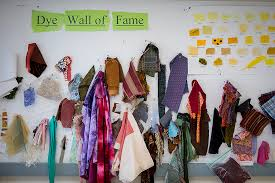 Scraps Of Fabric Decorate A Wall In The Costume Shop.Download Jpg(306 KB)