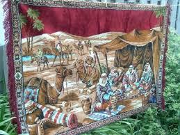 vintage saudi arabia huge tapestry wall