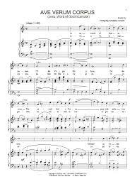 ave verum corpus sheet music ave verum jesu word of god incarnate sheet music direct