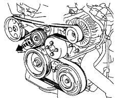 rav4 diagram serpentine belt ac alt tensioner and idler pulley