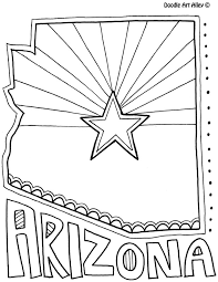 Small Picture Arizona Coloring Page by Doodle Art Alley USA Coloring Pages