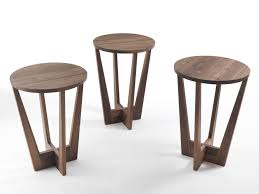 modern style wooden side table with round solid wood table parla by riva design karsten schmidt