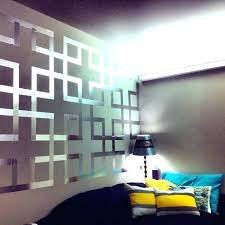 geometric wall design with painters tape wall designs with tape painters tape design chesty changes simple