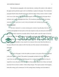 Apa Writing Format Essay Example Topics And Well Written Essays