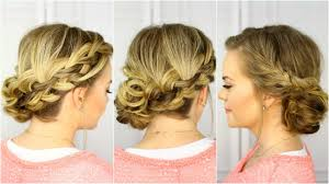French Braid Updo Hairstyles Waterfall French Braid Updo Youtube