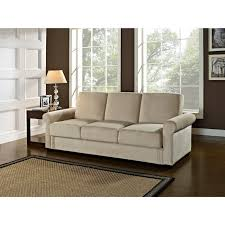 Serta Dream Thomas Convertible Sofa Light Brown Serta Toronto Convertible Sofa By Lifestyle Solutions Light