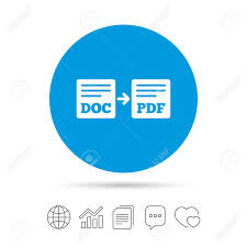 Export Doc To Pdf Icon File Document Symbol Copy Files Chat