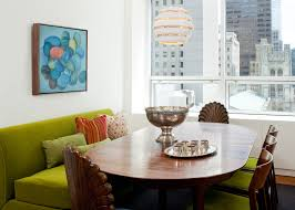 dining table banquette couch. good looking setee in dining room midcentury with futon next to table centerpiece alongside banquette and green sofa couch