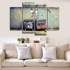 modern wall art decor uk. wonzom large banksy canvas prints \ modern wall art decor uk n