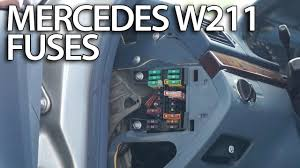 where are fuses and relays in mercedes benz w211 (fusebox location Car Fuse Box at 2003 S430 Headlight Fuse Box Location
