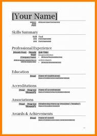 Resume Format Free Download In Ms Word Best Of Template Wordpad 2007