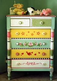 colorful painted furniture. Colorful Painted Furniture. Hand-Painted \\u0026 Stenciled Dresser From Humble Art Studios. Furniture E