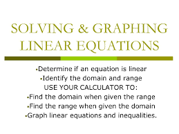 solving graphing linear equations