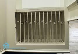 diy inside cabinet plate rack