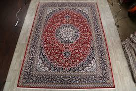 area rugs noonan soft plush fl kerman persian navy blue red beige area rug