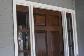 how to refinish front doorStaining your door without stripping Stain over existing Stain or
