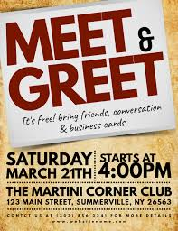 Meet And Greet Flyers Templates Meet Greet Flyer Template Postermywall