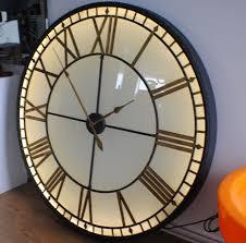 Small Picture Extra Large big Illuminated Light Big Skeleton Vintage Clock UK