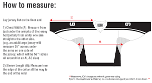 Nhl Jersey Size Chart Hockey Size Chart Jog Athletics