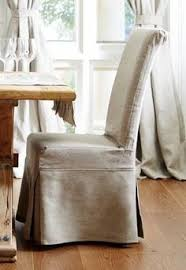 french provincial dining chair with washable linen slipcover