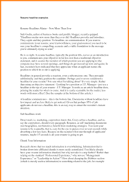 Headline Resume Examples Best solutions Of Headline Resume Examples Design Templates Fonts 31