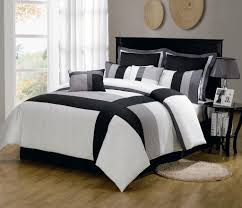 charcoal gray striped comforter