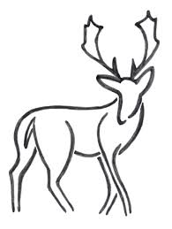 Drawn Antler Long Deer Free Clipart On Dumielauxepices Net