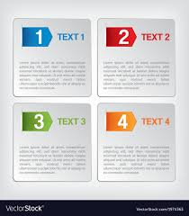 Infographic Website Template Infographic And Website Template Royalty Free Vector Image