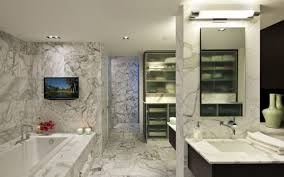 bathrooms designs. Modern Bathroom Design With Freestanding Bath Using Frameless Minimalist Bathrooms Designs