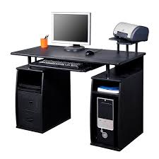 Hidden Printer Cabinet Computer Desk Pc Table Desktop Workstation W Monitor Printer