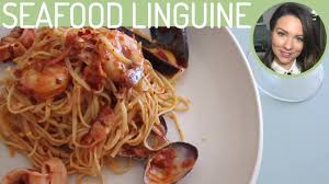 SEAFOOD LINGUINE PASTA RECIPE - YouTube