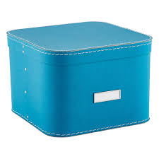 Turquoise Oskar Storage Box with Lid